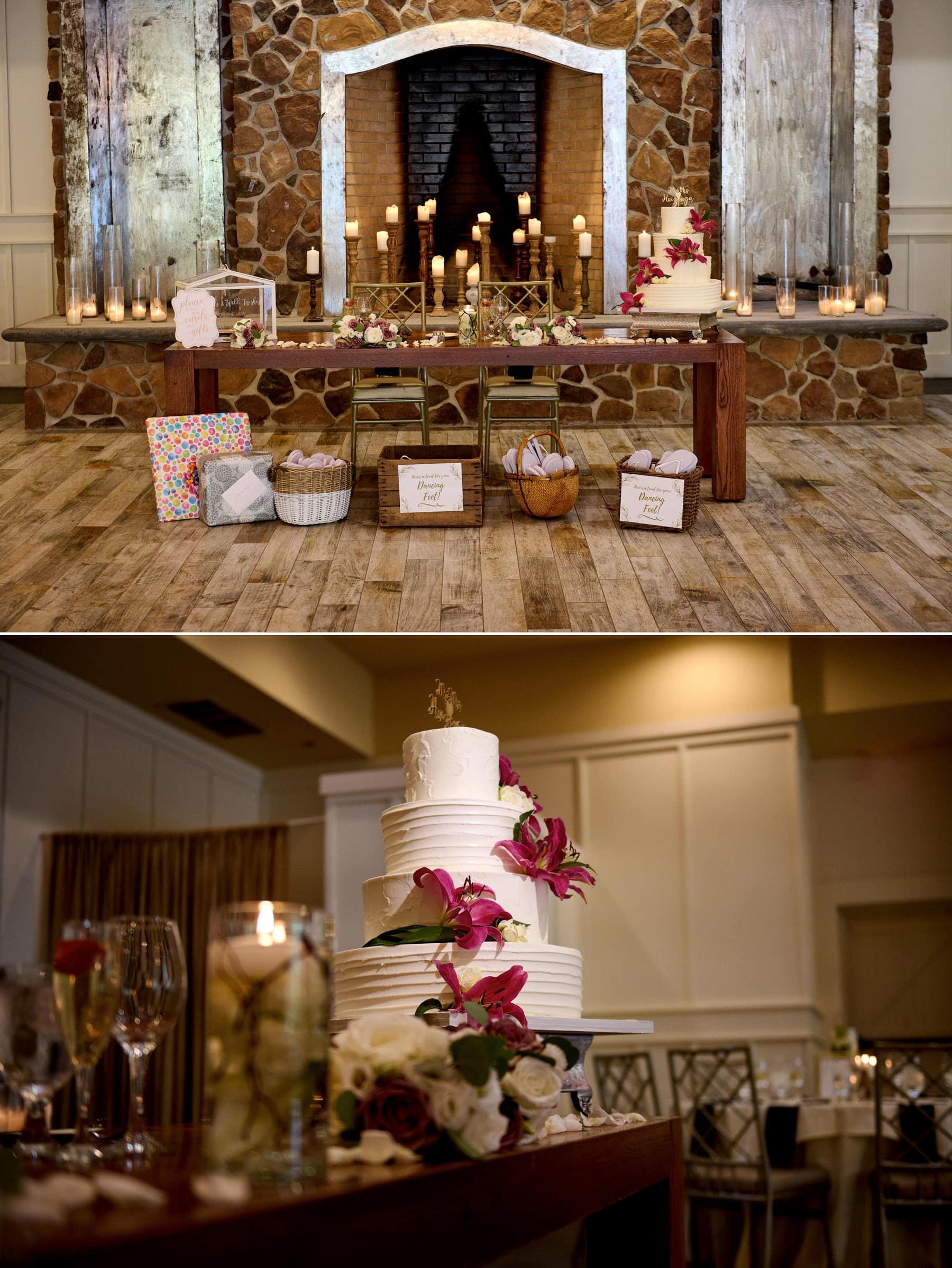 The Farmhouse wedding ballroom details