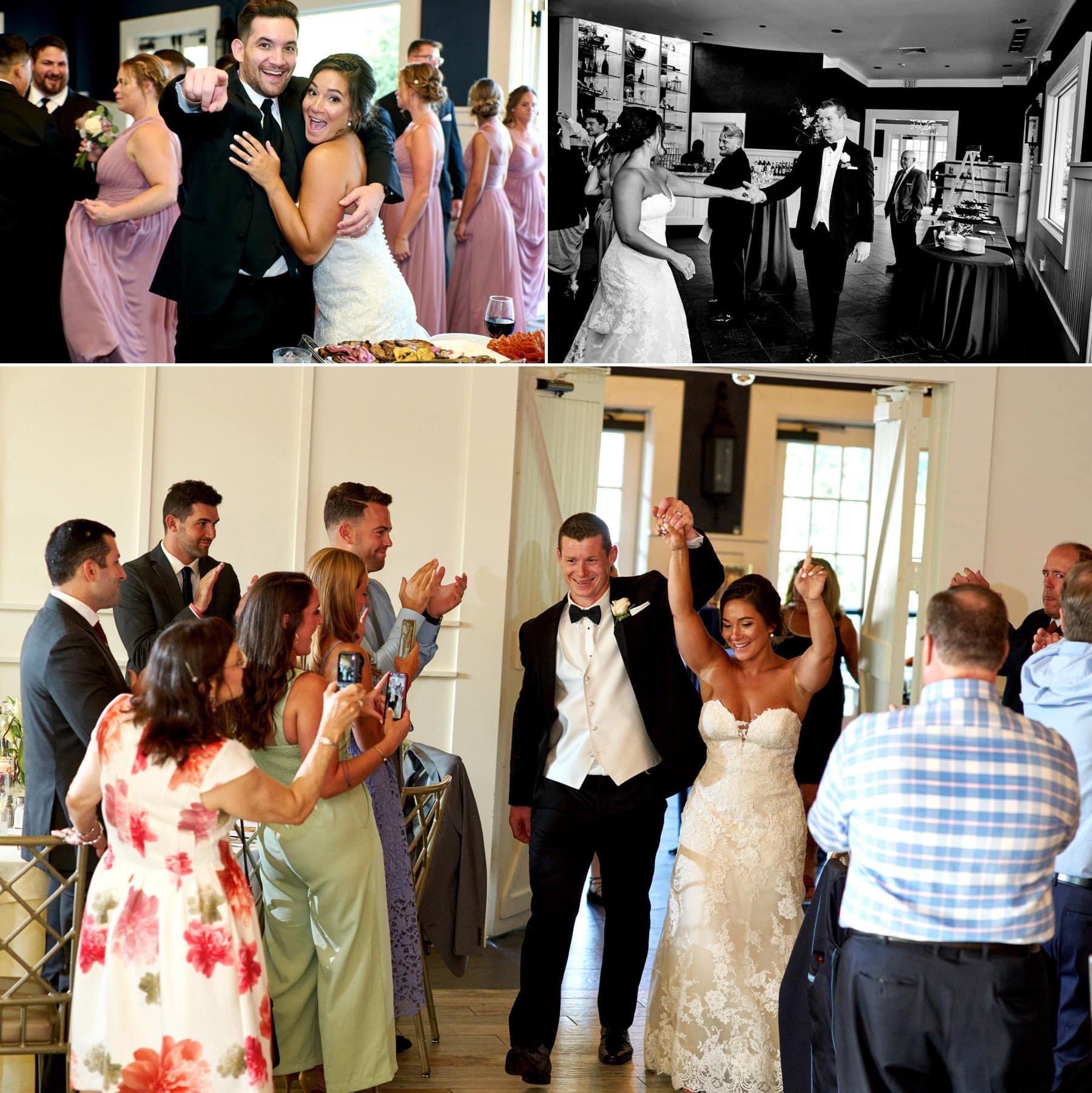 wedding entrance photos at The Farmhouse