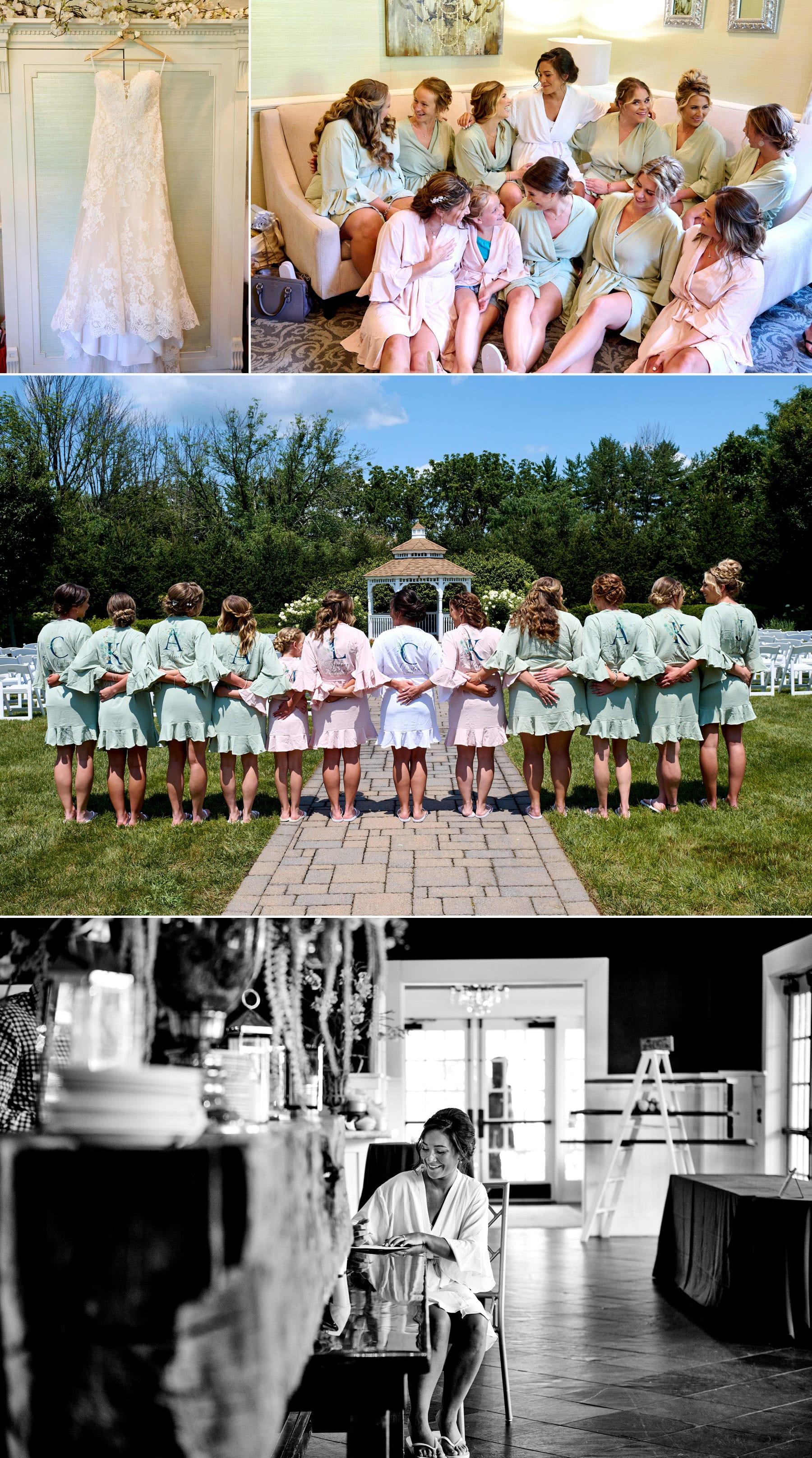 bridesmaids photos at The Farmhouse wedding