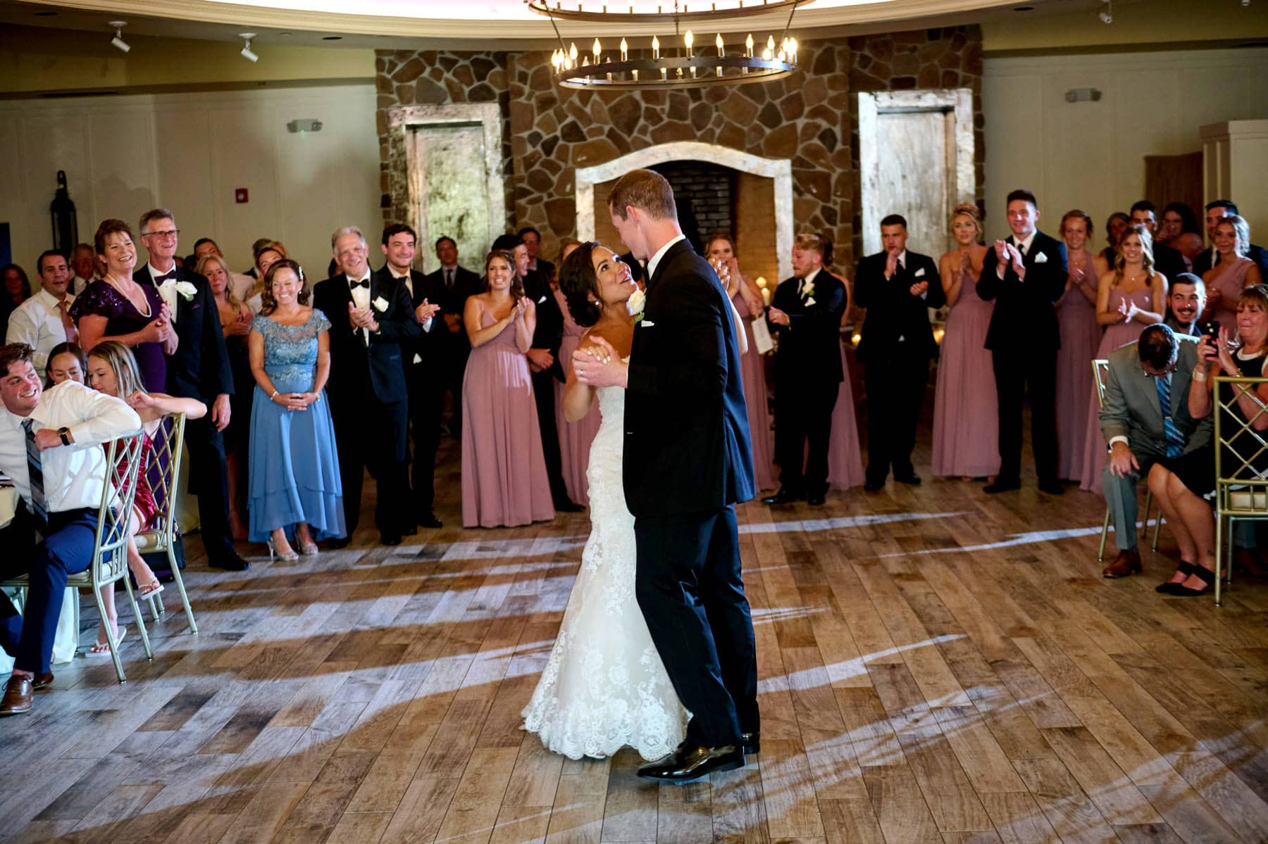 first dance photo at The Farmhouse