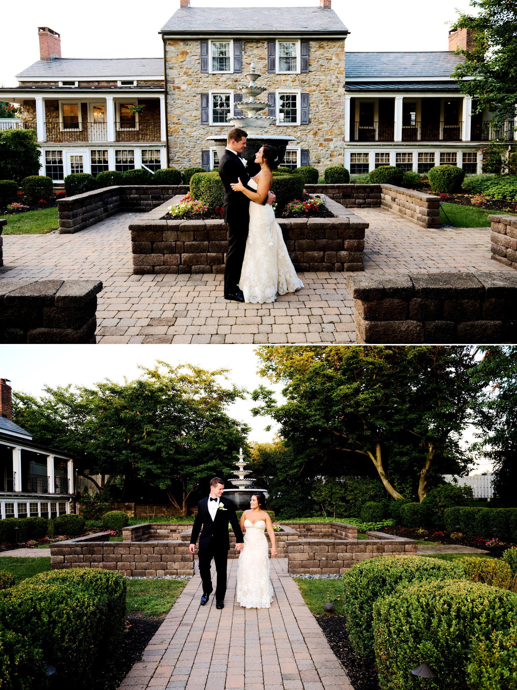 sunset wedding photos at The Farmhouse