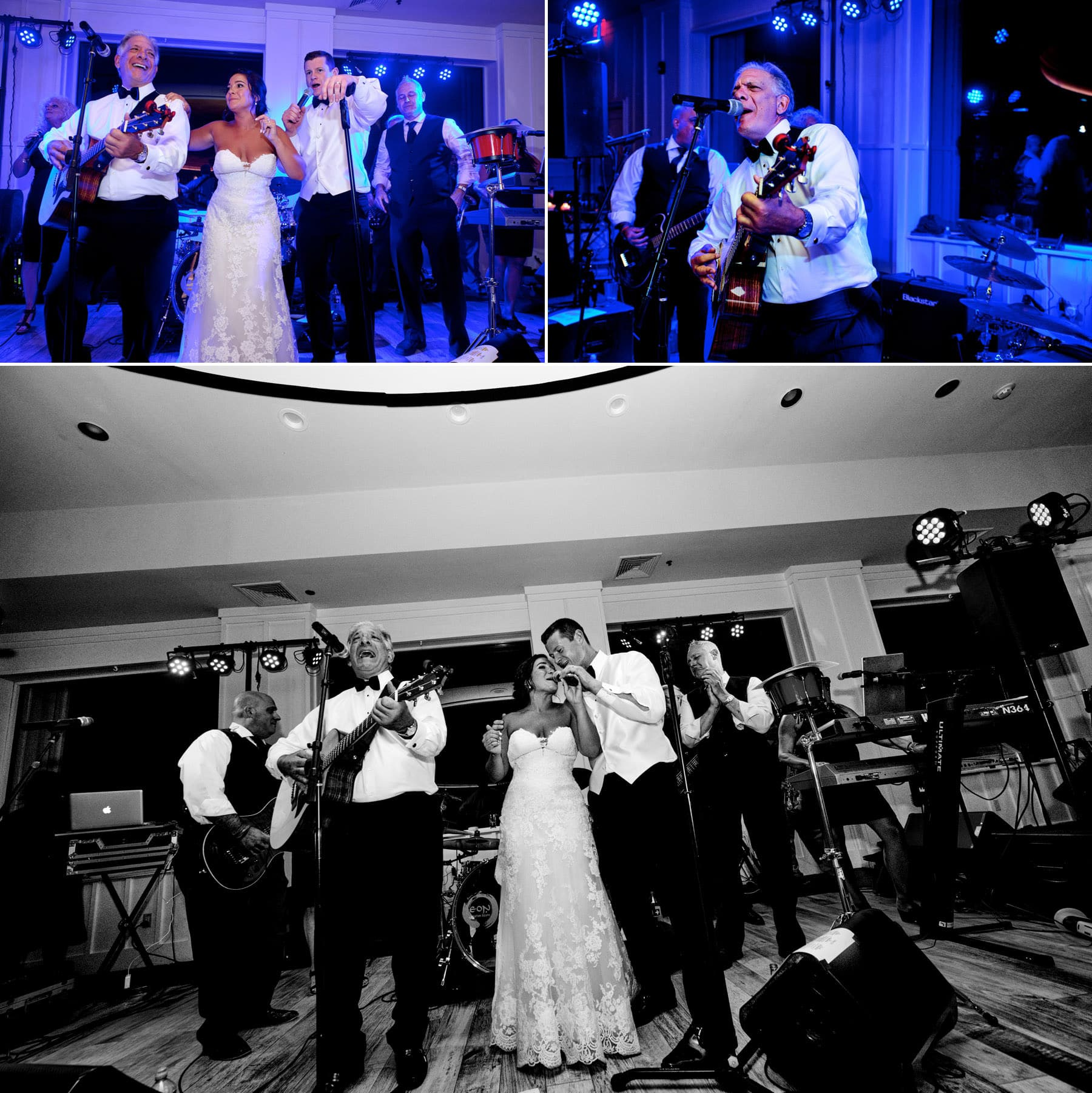 wedding band playing at The Farmhouse