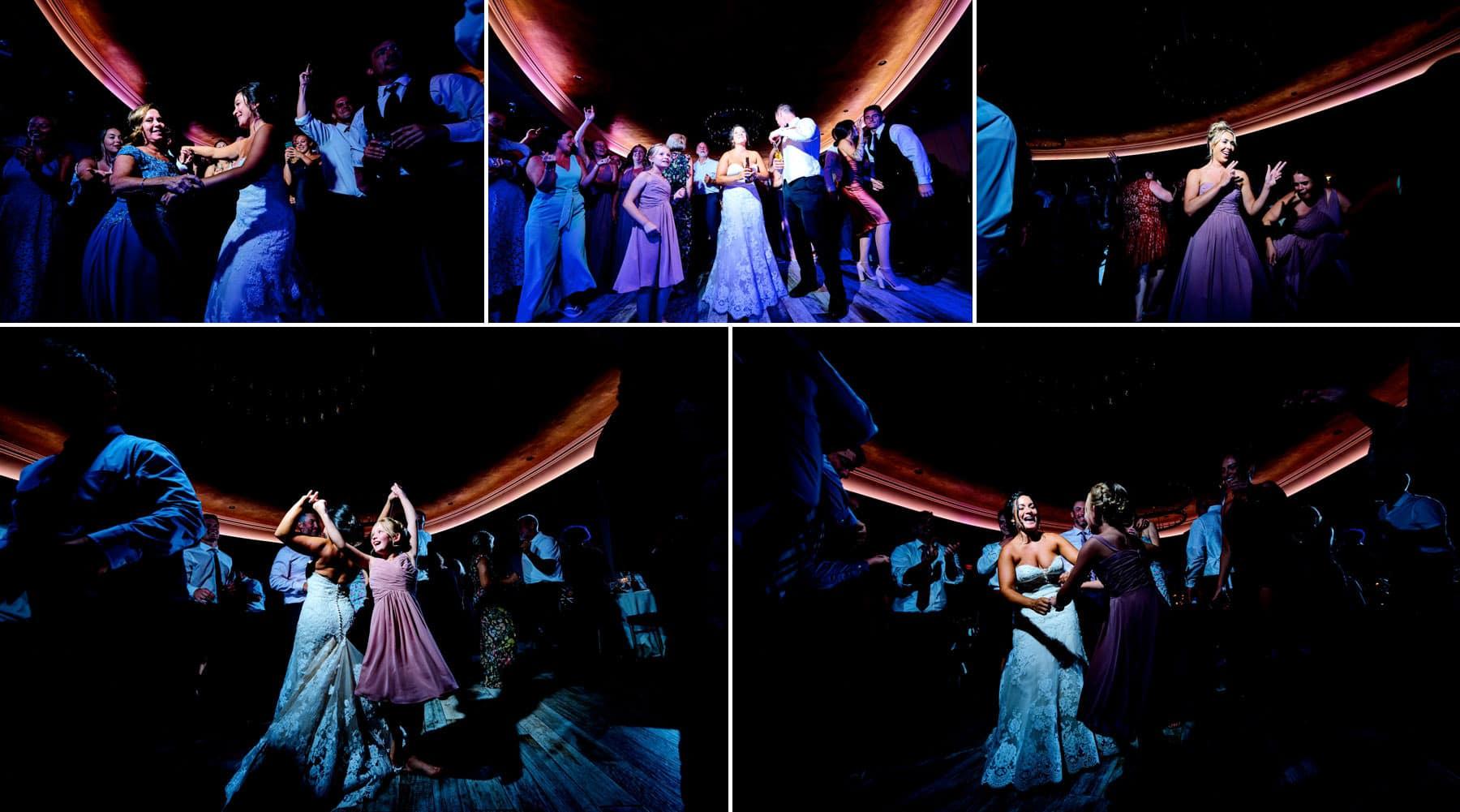 The Farmhouse packed wedding dance floor