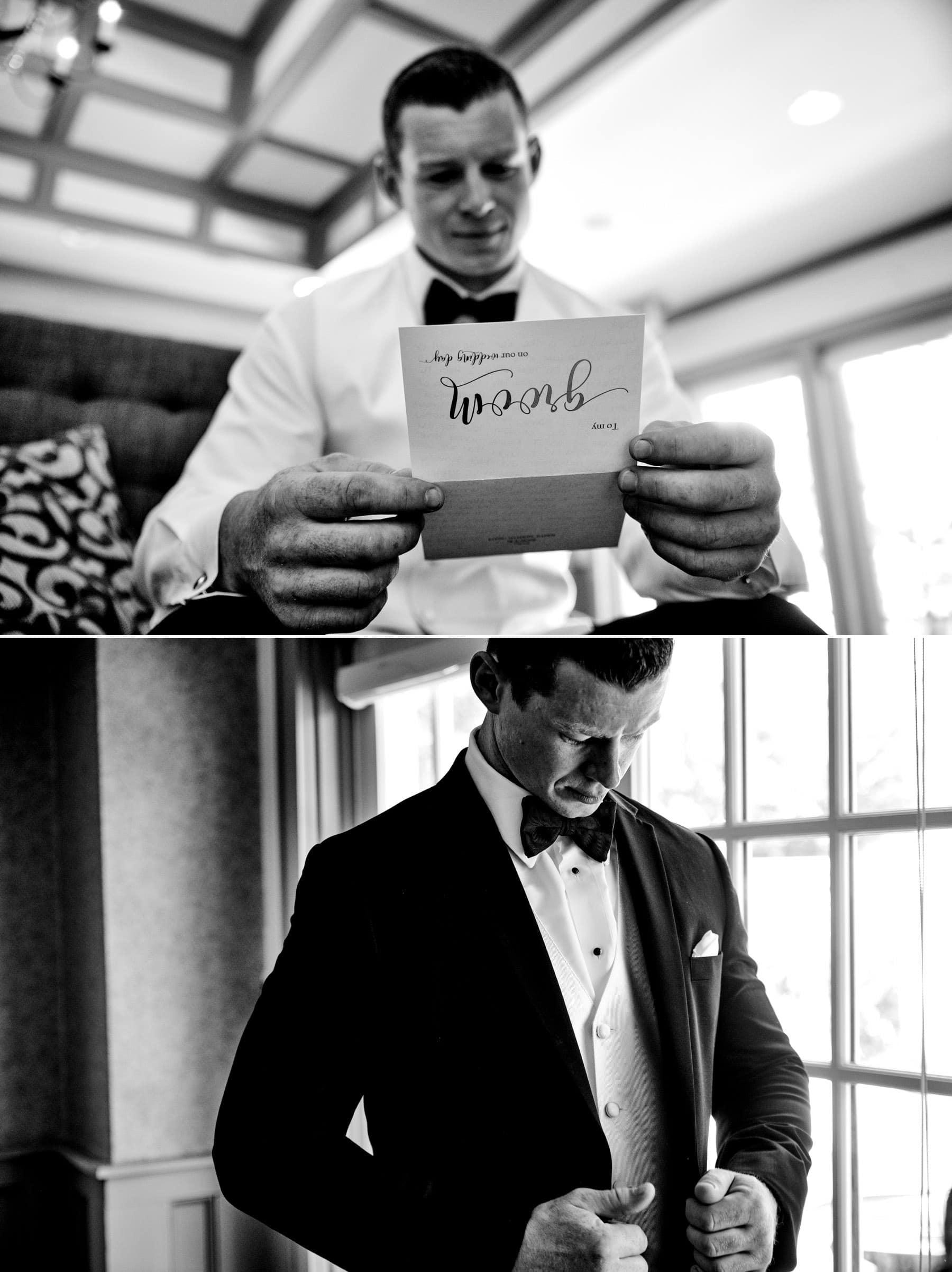 groom prep at The Farmhouse