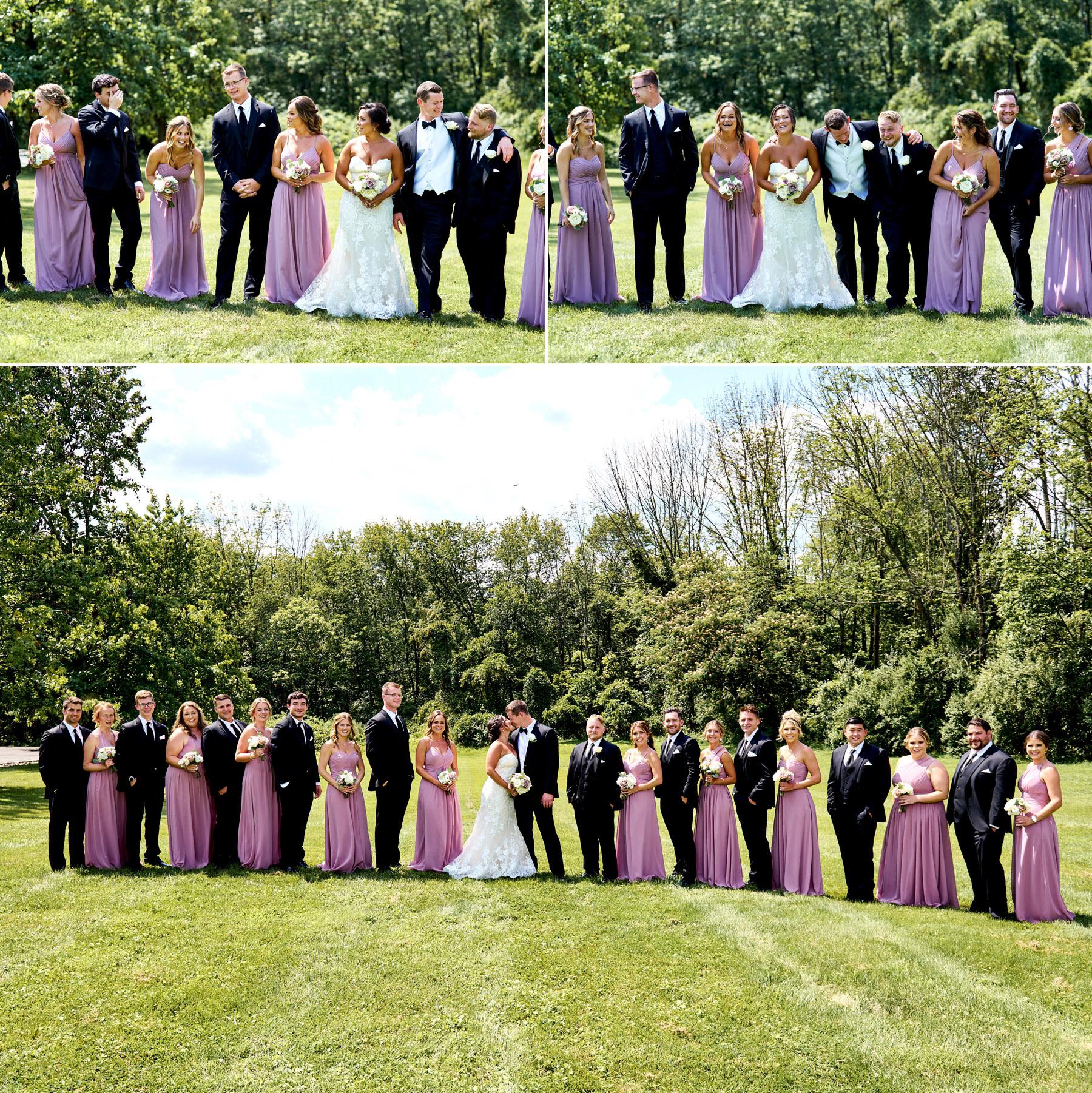 wedding party photos at The Farmhouse